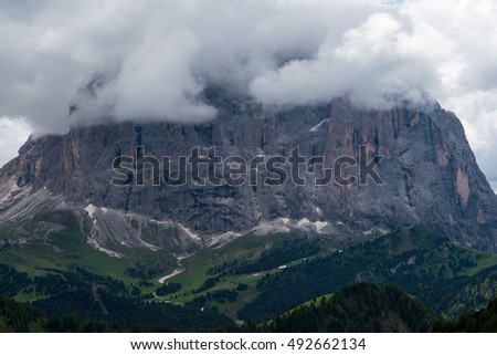 Sella pass landscape