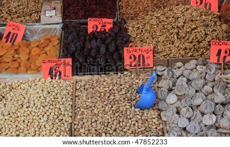 Seller of dried fruit and nuts