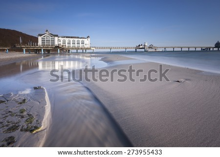 Sellin Pier - view from the beach