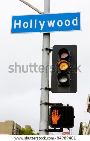 semaphore, Hollywood, Los Angeles, California, USA - stock photo
