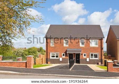 Semi detached house - stock photo