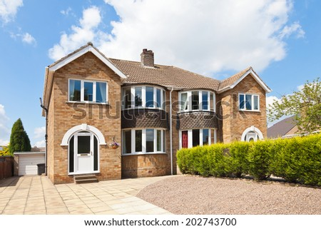 Semi detached house - stock photo
