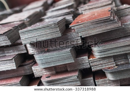 semi-finished products for machines - stock photo