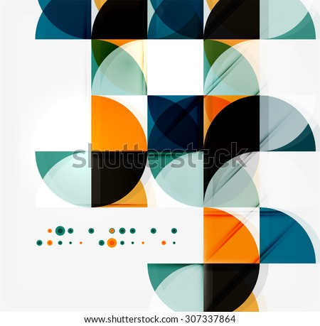 Semicircle triangle pattern. Abstract mosaic background, online presentation website element or mobile app cover  - stock photo