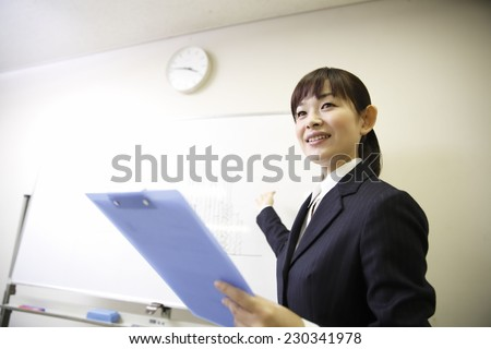 Seminar instructors - stock photo