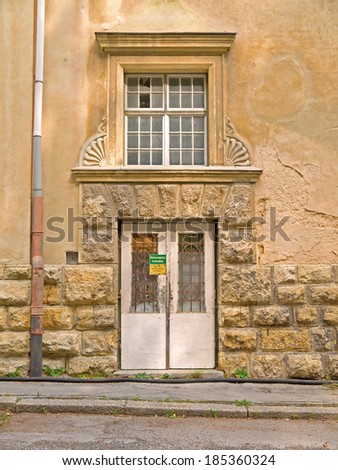 SEMMERING, AUSTRIA - 02  April 2014: The grand hotel Suedbahnhotel was opened in 1882 after Semmering was made accessible by train. The hotel business ended in the 1960ies.  - stock photo