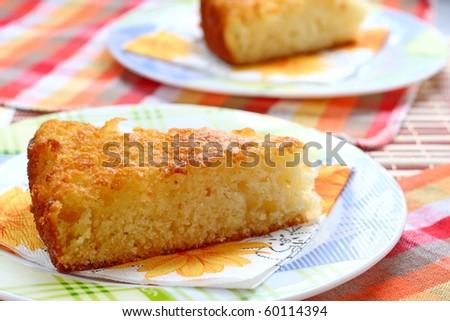 Semolina cake - stock photo