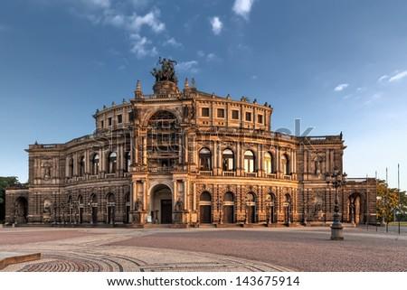 Semper Opera from outside in Dresden - stock photo