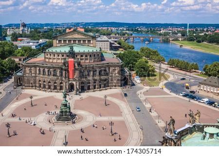 Semper Opera House, Dresden, Germany - stock photo