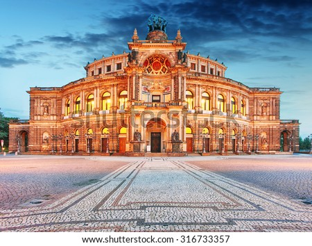 Semperoper in Dresden, Germany