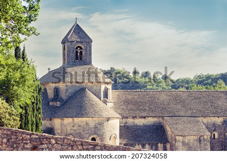 Senanque Abbey in a sunny day - stock photo