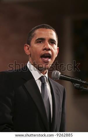 Senator Obama Speaks - stock photo