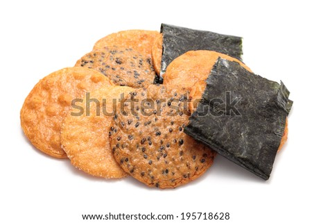 Senbei, japanese rice crackers���   - stock photo