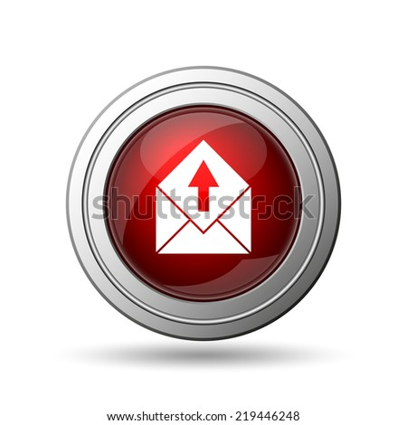 Send e-mail icon. Internet button on white background.