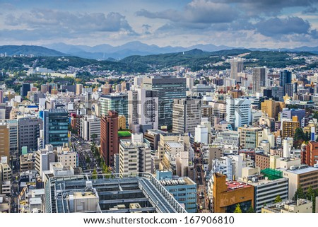Sendai, Japan cityscape - stock photo