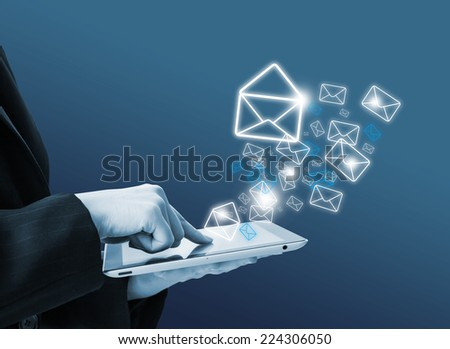 Sending email - stock photo
