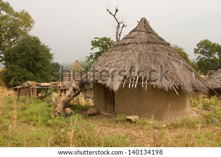 Senegal Andyel Hut - stock photo