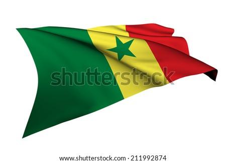 Senegal flag - collection no_5  - stock photo