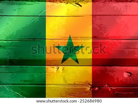 Senegal flag themes idea design - stock photo