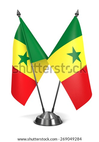 Senegal - Miniature Flags Isolated on White Background. - stock photo