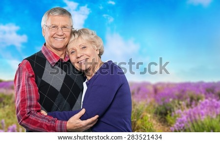 Senior Adult, Couple, Family. - stock photo