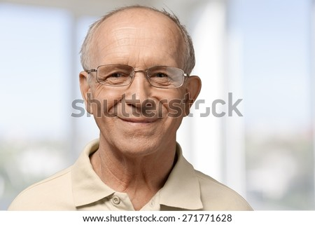 Senior Adult, Nursing Home, Men. - stock photo