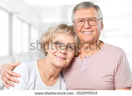 Senior Adult, Old, Assisted Living. - stock photo
