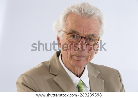 Senior Business Man Portrait  - stock photo