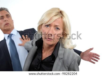Senior business partners having a heated argument - stock photo