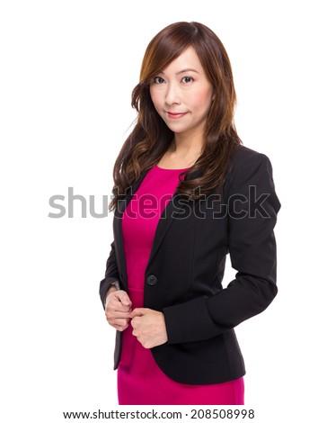 Senior business woman - stock photo