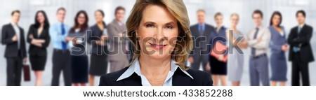 Senior business woman. - stock photo