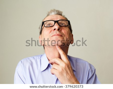 senior businessman thinking about problem