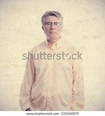 senior cool man boring - stock photo