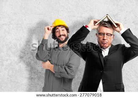 senior cool man boring with a book - stock photo