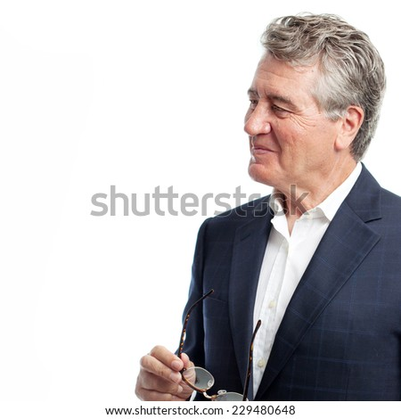 senior cool man condifence pose - stock photo
