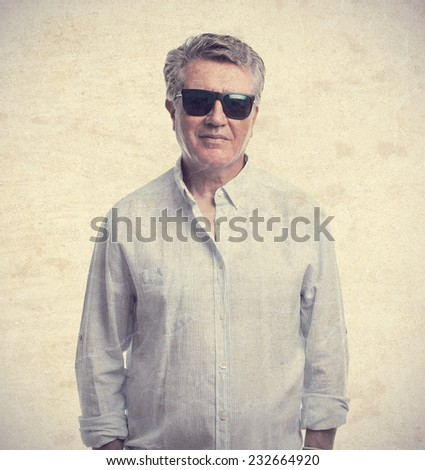 senior cool man confidence - stock photo