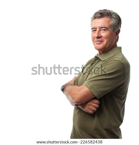 senior cool man happy  - stock photo