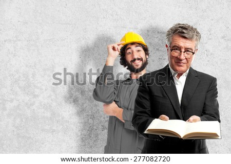 senior cool man offering a book - stock photo