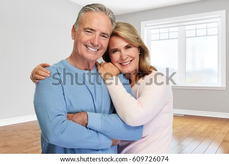 Senior couple at home.