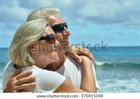 Senior couple at sea