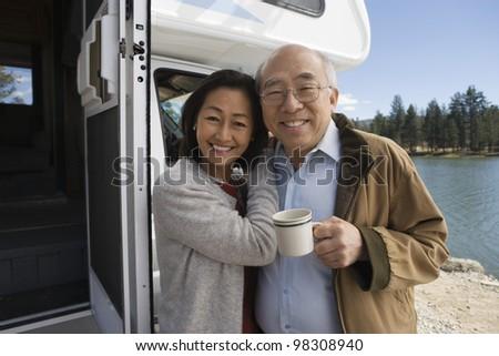 Senior Couple on Road Trip - stock photo