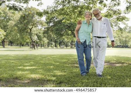 Senior Couple Relax Lifestyle Concept