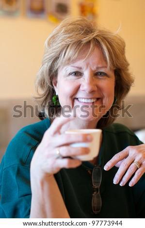 Senior Drinking Tea - stock photo