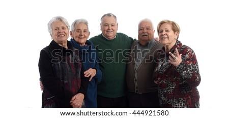 Senior group - stock photo
