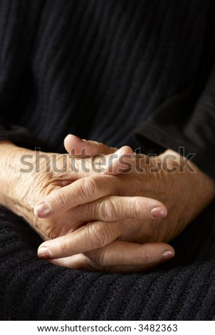 senior hands (special tone photo f/x, focus point on hands (center))
