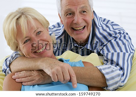 Senior Lifestyle - portrait of a nice couple of senior - symbol of love and complicity
