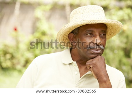 Senior Man With Thoughtful Expression