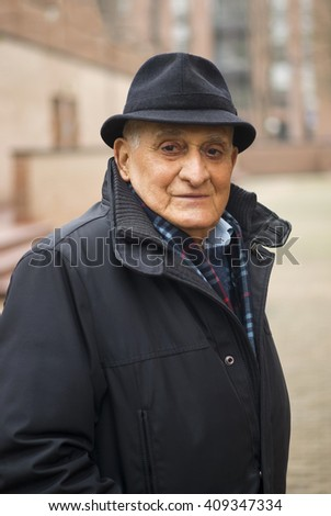 Senior man 80 years, Portrait - stock photo
