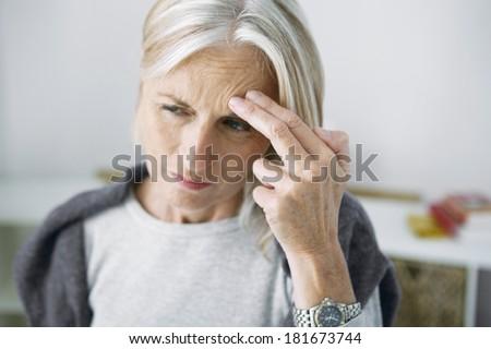 Senior With Sinusitis - stock photo