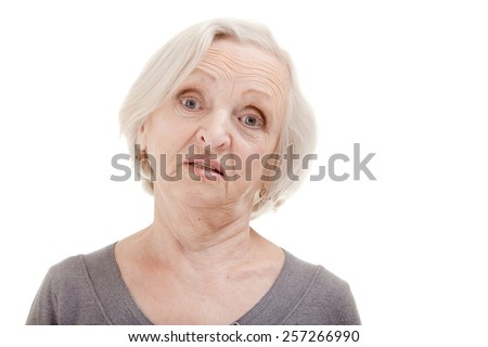 Senior Woman Asking the Question - stock photo